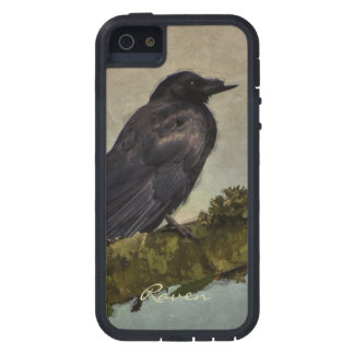 Black Raven on Branch Crow-lover's Phone Case