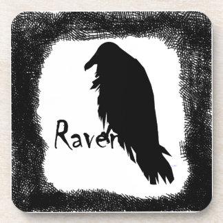Black Raven on Raven Drink Coaster