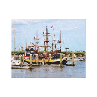 Black Raven Pirate Ship Wrapped Canvas