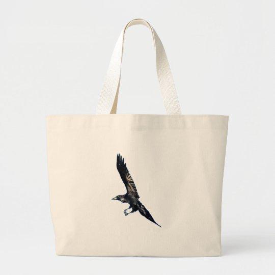 Black Raven Series Large Tote Bag