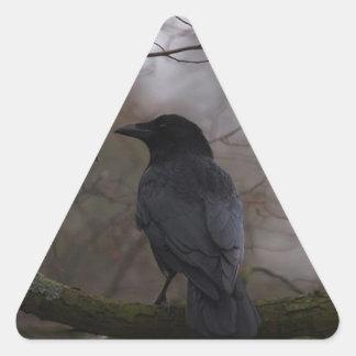 Black Raven Triangle Sticker
