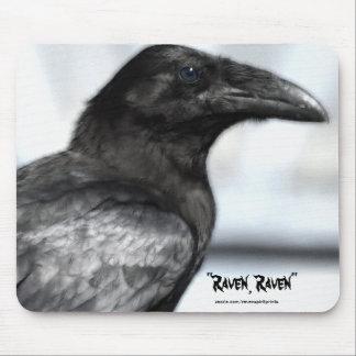 Black Raven Wildlife Supporter Mousepad