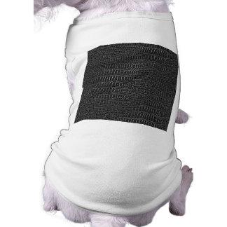 Black Realistic Alligator Skin Look Dog Clothes