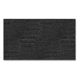 Black Realistic Alligator Skin Look Magnetic Business Cards (Pack Of 25)