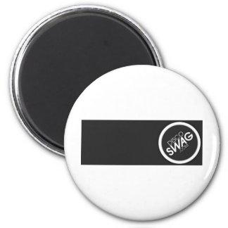 black rectangle logo magnet