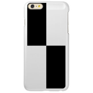 Black Rectangles on Silver Incipio Feather Shine iPhone 6 Plus Case