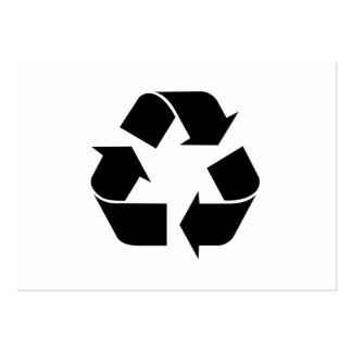 Black Recycling Symbol Large Business Card