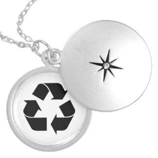 Black Recycling Symbol Lockets