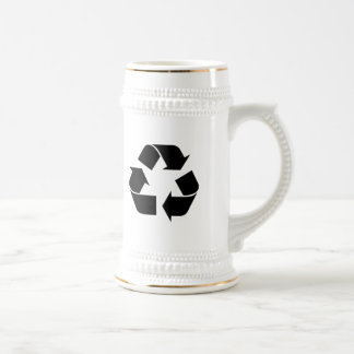 Black Recycling Symbol Mugs