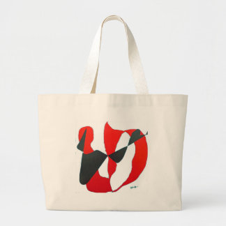 Black & Red Abstract Heart Canvas Bags