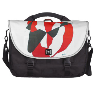 Black & Red Abstract Heart Laptop Bag