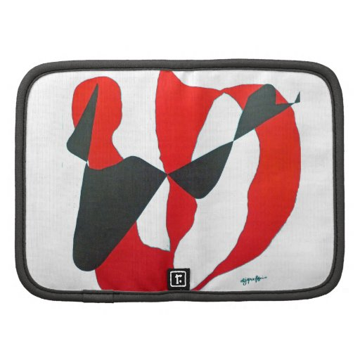 Black & Red Abstract Heart Organizers