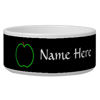 Black, Red and Green Apple Design. Bowl