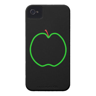 Black, Red and Green Apple Design. iPhone 4 Case