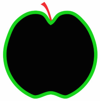 Black, Red and Green Apple Design. Photo Cut Out