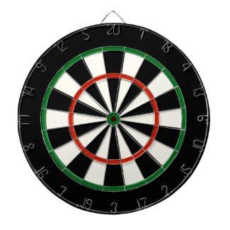 Black Red and Green Regulation Dart Board