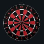 "Black Red and White Dart Board<br><div class=""desc"">Black Red and White Dart Board featuring dart board numbers in a stenciled red font. 