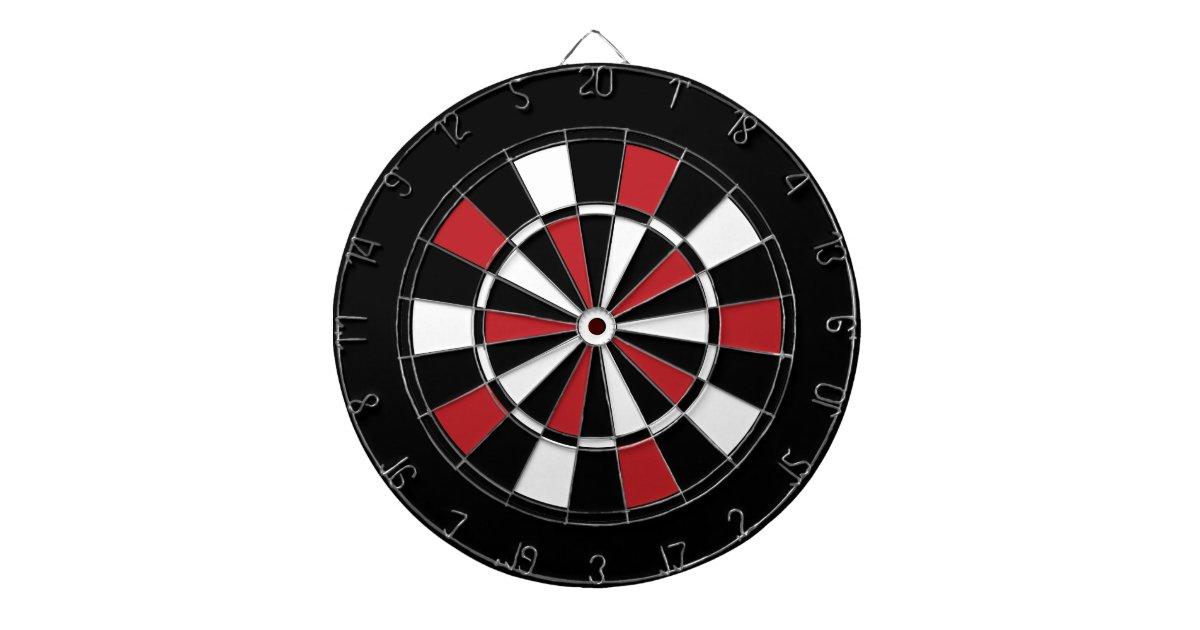 Black Red and White Dart Board | Zazzle