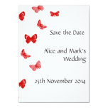 black, red and white save the date card 11 cm x 16 cm invitation card