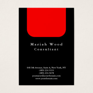 Black Red Background Professional Modern Business Card