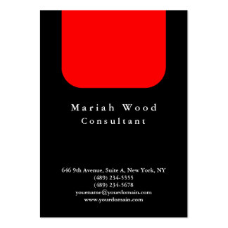 Black Red Background Professional Modern Large Business Card