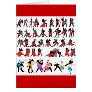 BLACK RED BALLROOM COLORFUL DANCERS DANCE DIGITAL CARD