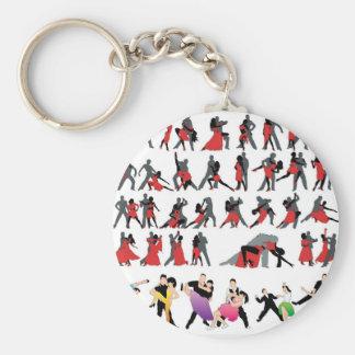 BLACK RED BALLROOM COLORFUL DANCERS DANCE DIGITAL KEYCHAIN