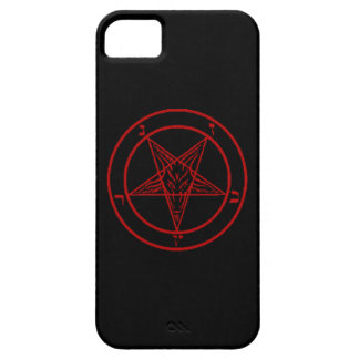 Black/Red Baphomet Phone Case iPhone 5 Covers