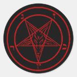 Black/Red Baphomet Stickers