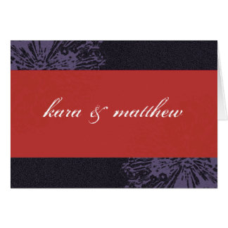 Black & Red Blossom Save the Date Card