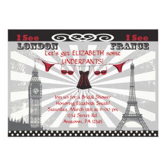 Black Red Bridal Shower Invitations