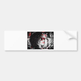 Black&Red Bumper Sticker