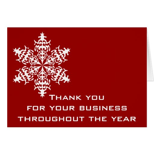 Black & Red Business Thank You Note Card