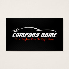 Black, Red, Car, Auto, Carbon Fiber  Business Card at Zazzle