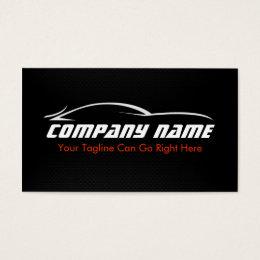 Black, Red, Car, Auto, Carbon Fiber  Business Card