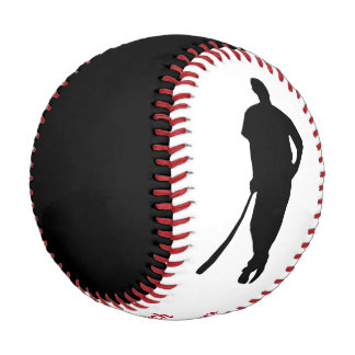 Black Red Champion Coach Personalized Baseball
