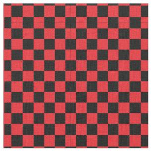 Red Checkered Fabric Zazzle