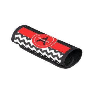 Black Red Chevron Luggage Handle Wrap
