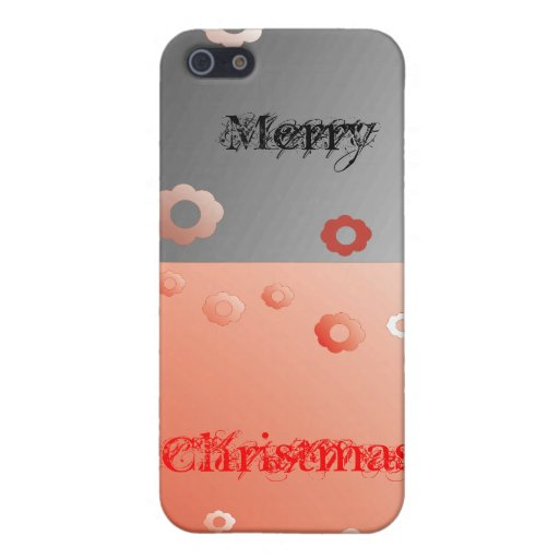 Black_red-christmas iPhone 5 Cárcasa