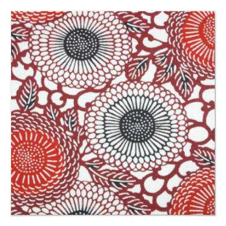 Black & Red Chrysanthemums Invite
