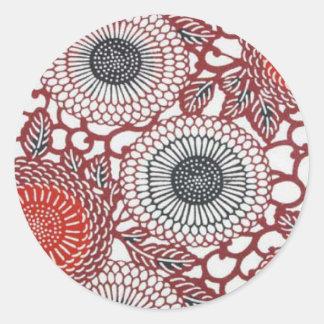 Black & Red Chrysanthemums Sticker