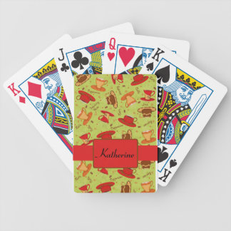 Black & Red Coffee Cup Pattern Personalized Bicycle Playing Cards