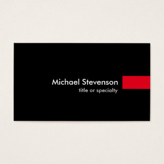 Black Red Consultant Unique Standard Business Card
