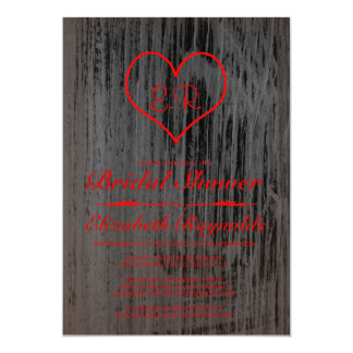 Black & Red Country Bridal Shower Invitations
