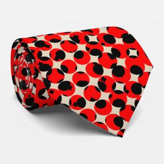 Black Red Creamy White Classy Neck Tie
