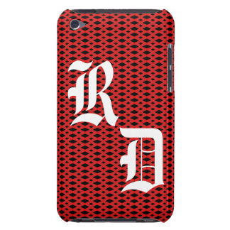 Black & Red Diamond iPod Touch Case