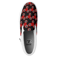 Black Red Fidget Spinner Toy Slip On Sneaker