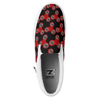 Black Red Fidget Spinner Toy Slip On Sneaker