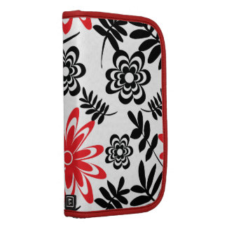 black red flora patterns folio planners