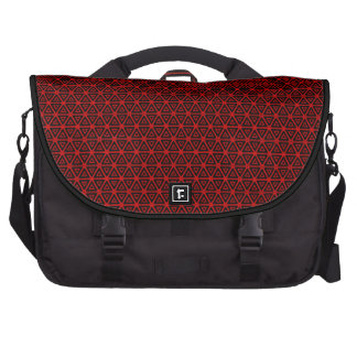 Black Red Geometric Commuter Laptop Bag